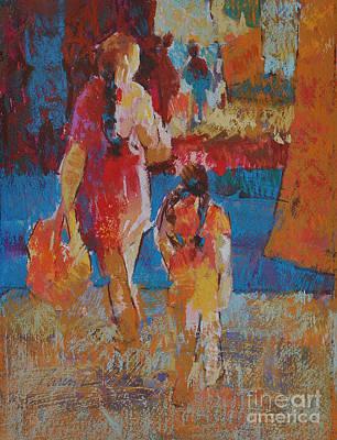 Mercado Mother And Daughter Art Print