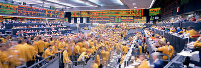Electronic Photograph - Mercantile Exchange, Trading, Chicago by Panoramic Images