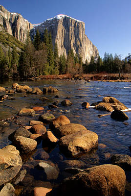 Photograph - Merced River And El Capitan  by Daniel Woodrum