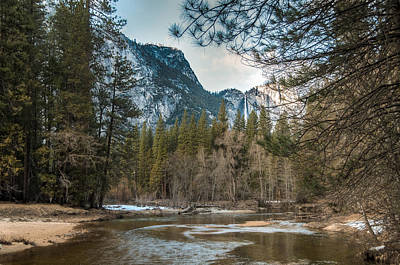 Photograph - Merced River And Upper Yosemite Falls by Connie Cooper-Edwards