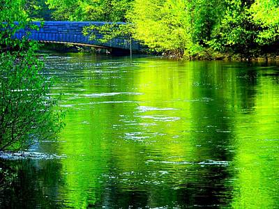 Photograph - Merced River Sentinel Bridge And Green by Jeff Lowe