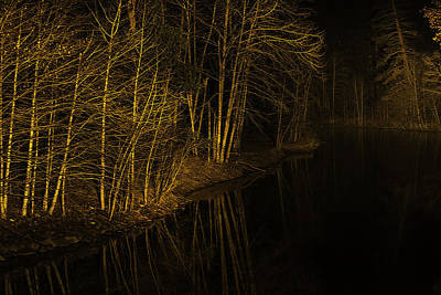 Photograph - Merced River Lightpainting by Kim Swanson