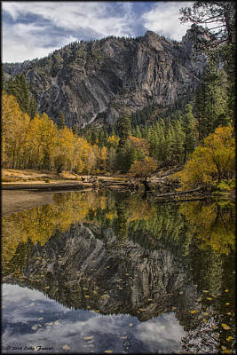 Photograph - Merced River Relfection by Erika Fawcett