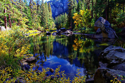Merced River Yosemite National Park Art Print