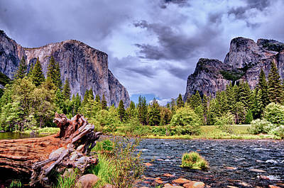 Art Print featuring the photograph Merced River Yosemite Valley by Janis Knight