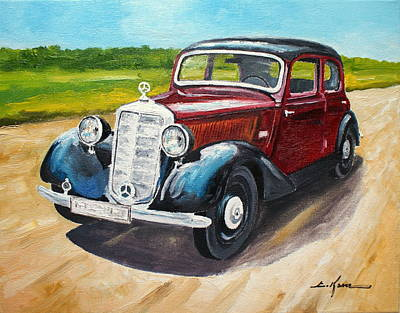 Painting - Mercedes 170 V by Luke Karcz