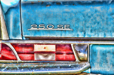 Santas Reindeers Royalty Free Images - Mercedes 250 SE Vintage Abandoned Car By Diana Sainz Royalty-Free Image by Diana Raquel Sainz