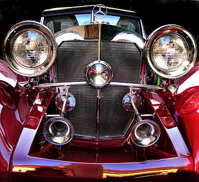 Photograph - Mercedes 550 K - 1936 Vintage Cars by Daliana Pacuraru