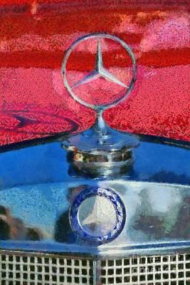 Mascot Painting - Mercedes Badge by George Atsametakis