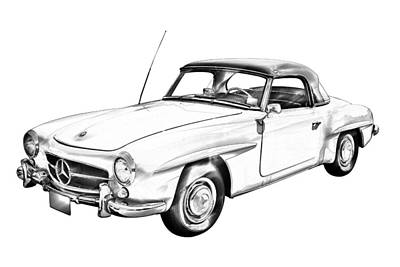 Photograph - Mercedes Bens 300 Sl Illustration by Keith Webber Jr