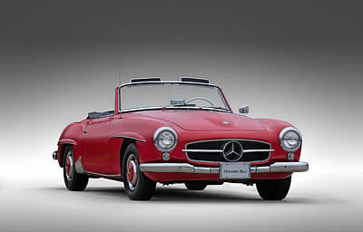 Automobiles Digital Art - Mercedes-benz 190 Sl by Douglas Pittman