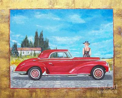 Painting - Mercedes-benz 300 Coupe by Sinisa Saratlic