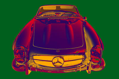 Photograph - Mercedes Benz 300 Sl Convertible Pop Art by Keith Webber Jr