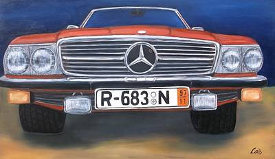 Painting - Mercedes Benz 450sl by Joseph Love