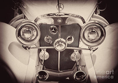 Photograph - Mercedes Benz - Antiqued by Paul W Faust -  Impressions of Light