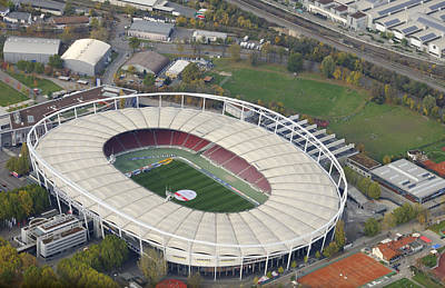 Photograph - Mercedes-benz Arena Stuttgart Germany by Matthias Hauser