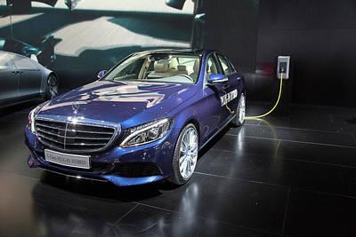 Mercedes-benz C-class Plug-in Hybrid Car Art Print by Jim West