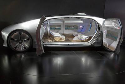 Self Photograph - Mercedes-benz F015 Autonomous Car by Jim West