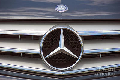 Photograph - Mercedes Benz Front Automobile Grill And Emblem by David Zanzinger