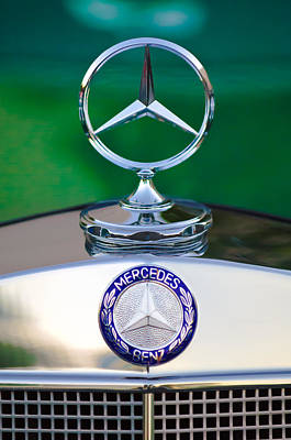 Mercedes Benz Hood Ornament 3 Art Print by Jill Reger