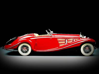 Car Photograph - Mercedes-benz by VRL Art