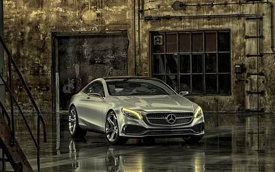 Cabin Wall Photograph - Mercedes Benz S Class Coupe 2013 by Movie Poster Prints