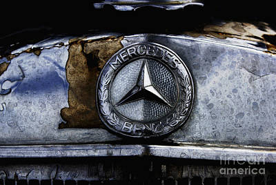 Photograph - Mercedes Benz Shabby Chic by Nola Lee Kelsey