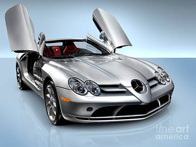Cut Out Photograph - Mercedes Benz Slr Mclaren by Oleksiy Maksymenko