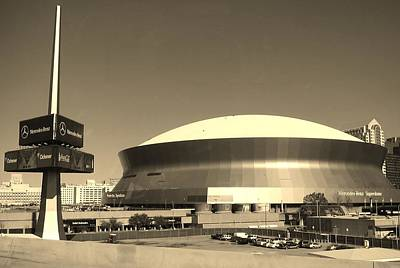 Photograph - Mercedes Benz Superdome - New Orleans La by Deborah Lacoste