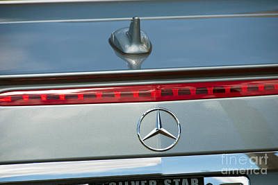 Photograph - Mercedes Car Emblem by David Zanzinger
