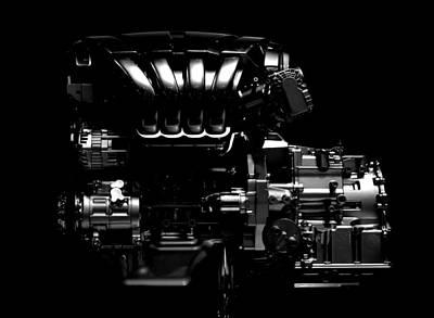 Photograph - Mercedes Engine by Radoslav Nedelchev