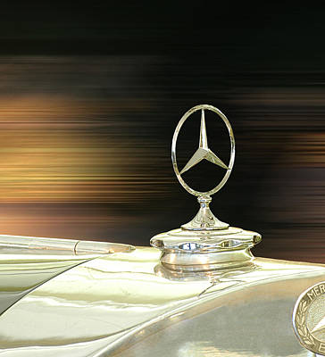 Photograph - Mercedes Hood Ornament by Ginger Wakem