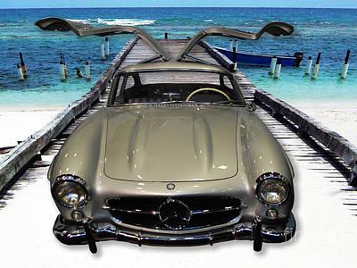 Photograph - Mercedes Benz On Landing Strip by Heather Kirk