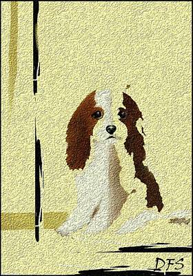 Painting - Mercedes  Our Cavalier King Charles Spaniel  No. 2 by Diane Strain