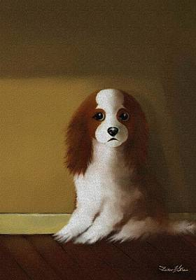 Painting - Mercedes - Our Cavalier King Charles Spaniel  No. 3 by Diane Strain