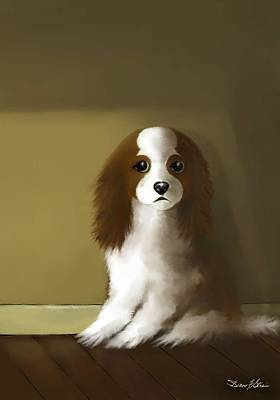 Painting - Mercedes - Our Cavalier King Charles Spaniel  No. 4 by Diane Strain