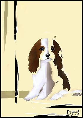 Painting - Mercedes - Our Cavalier King Charles Spaniel  No. 7 by Diane Strain