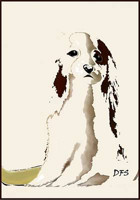 Painting - Mercedes  - Our Cavalier King Charles Spaniel  No. 9 by Diane Strain