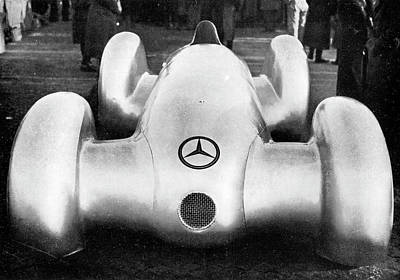 Mercedes W154 Racing Car Art Print by Cci Archives