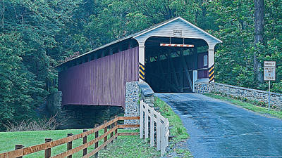 Mercer's Mill Covered Bridge Art Print