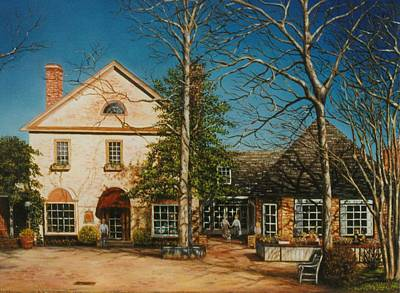 Colonial Williamsburg Painting - Merchants Square On A Brisk Winter Morning by Gulay Berryman