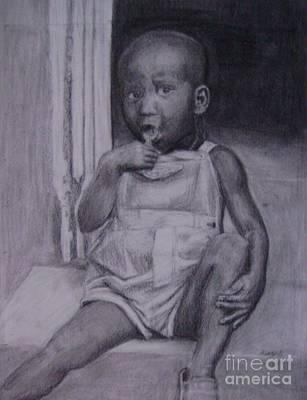Haitian Drawing - Merci by Kelly Statham