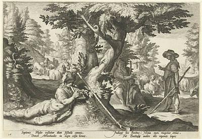 Battus Drawing - Mercury And Battus, Hendrick Goltzius, Franco Estius by Artokoloro