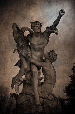 Mercury Carrying Eurydice To The Underworld Art Print by Loriental Photography
