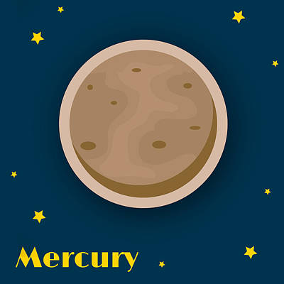 Science Fiction Royalty-Free and Rights-Managed Images - Mercury by Christy Beckwith