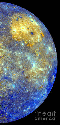 Heavenly Body Photograph - Mercury Color Mosaic by Science Source
