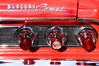 Photograph - Mercury Comet Red Convertible Taillights by Kathy K McClellan