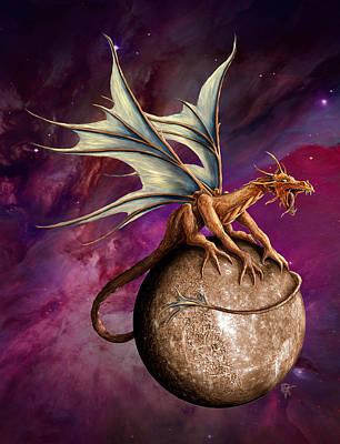 Digital Art - Mercury Dragon by Rob Carlos