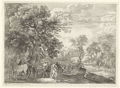 Battus Drawing - Mercury Explains Battus Silencing, Herman Van Swanevelt by Quint Lox
