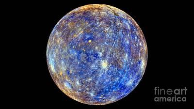Mercury Hemisphere, Messenger Image Art Print